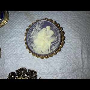 Vintage cameo of man an woman.